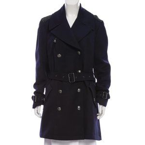 BURBERRY BRIT Knee-Length Wool Coat Size XL